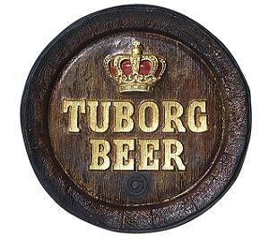 Barril de parede grande em Fibra KG - Decoração - Tuborg Cerveja