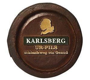 Barril Mini de parede em resina KG - Decoração – Karlsberg Cerveja