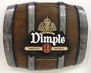 Barril Horizontal de parede em fibra decorativo - Dimple Whisky