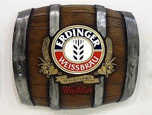 Barril Horizontal de parede em fibra decorativo - Erdinger Cerveja