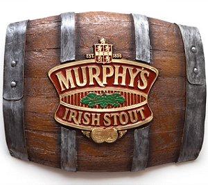Barril Horizontal de parede em fibra decorativo - Murphys Cerveja