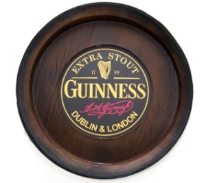 Barril Backlight Luminoso KG de parede - Guinness Cerveja - Bivolt