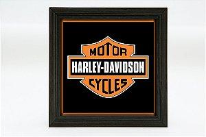 Quadro KG Luminoso quadrado - Harley - Bateria 9v