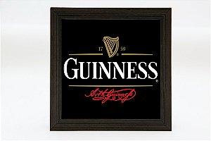 Quadro KG Luminoso quadrado - Guinness - Bateria 9v