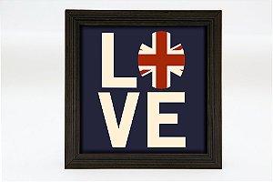 Quadro KG Luminoso quadrado - Love UK - Bateria 9v