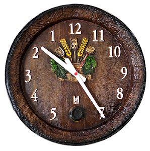 Relógio KG Barril de parede grande em Fibra - Anti-horário
