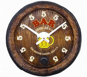 Relógio KG Barril de parede grande em Fibra - BAR