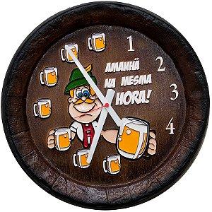 Relógio KG Barril de parede grande em Fibra - Mesma Hora