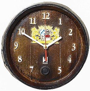 Relógio KG Barril de parede pequeno em Fibra - Horário