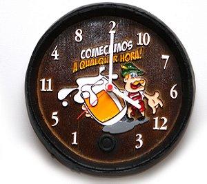 Relógio KG Barril de parede pequeno em Fibra - Qualquer Hora