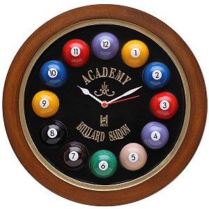 Relógio decorativo KG de parede em fibra - Billiard Preto