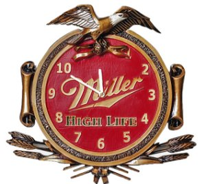 Relógio decorativo KG de parede em fibra - Águia Muller