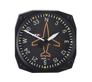 Relógio decorativo KG de parede em fibra - Simulacro Giro Direcional