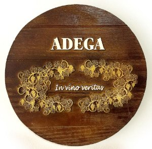 Placa Decorativa KG Adega de parede em Fibra - In Vino