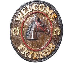 Placa KG Welcome de parede em resina - Welcome Friends Country (21 x 25 cm)
