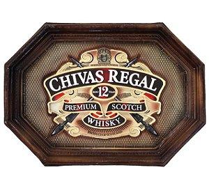 Placa KG Chivas de parede em fibra - Chivas Grande (56 x 40 x 6cm)