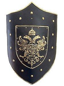 Escudo KG Medieval de parede em fibra - Águia (62,5 x 43 x 9cm)