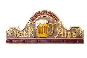 Placa KG Beer decorativa em fibra - Beer Ales Suporte Copos / Porta-Espetos