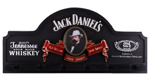 Placa KG Jack decorativa em fibra - Jack Danniels - cor preta - Suporte Copos / Porta-Espetos