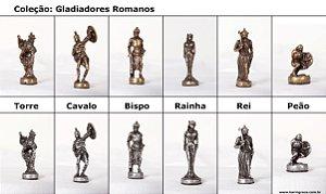 Peças de Xadrez Liga Metálica - Coleção Gladiadores (32 peças)