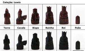 Peças de Xadrez KG de Resina - Coleção Lewis (32 peças)
