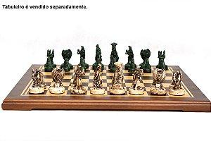 Peças de Xadrez KG de Resina - Coleção RPG (32 peças)