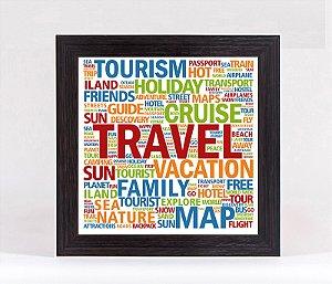 Quadro Porta Moedas Quadrado - Travel