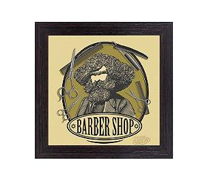 Quadro Porta Lâminas Quadrado - Barber Shop