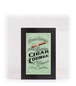 Quadro Porta Anílha Mini - Cigar Lounge