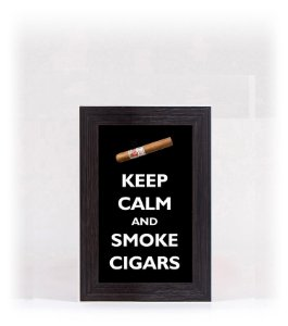 Quadro Porta Anílha Mini - Cigar Black