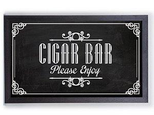 Quadro Porta Anílha Textura Grande - Cigar Bar