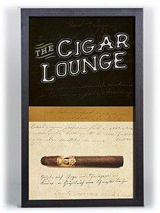 Quadro Porta Anílha Textura Grande - Cigar Lounge