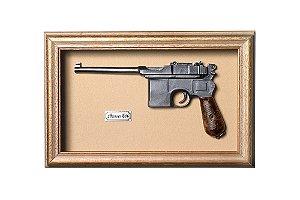 Quadro de Arma Resina KG Mauser C96 - Clássico