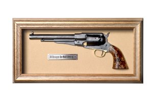 Quadro de Arma Resina KG 1858 Remington New Model Army cal. .44 - Clássico