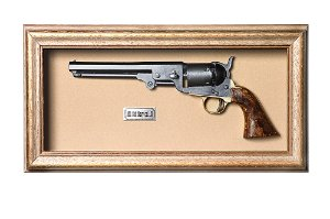 Quadro de Arma Resina KG 1851 Colt Navy cal. .36 - Clássico