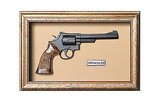 Quadro de Arma Resina KG Smith & Wesson S.A. cal. 38 S&W - Clássico