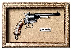 Quadro de Arma Resina KG Lefaucheux Revolver cal. 11mm - Clássico