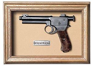 Quadro de Arma Resina KG Roth Steyr mod. 1907 cal. 8mm - Clássico