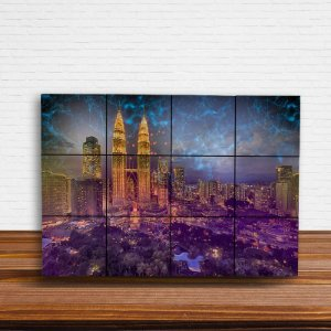 Painel Decorativo Cidade Conexão Virtual