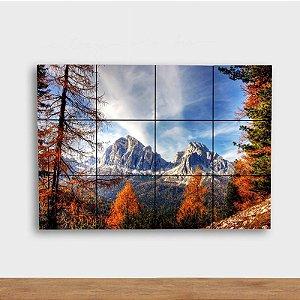 Painel Decorativo Montanha no Outono