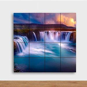 Painel Decorativo Cachoeira - Quadrado