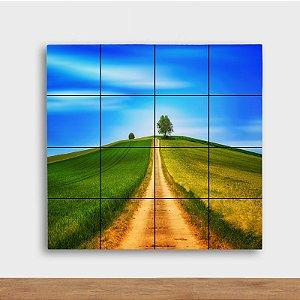 Painel Decorativo Caminho de Terra - Quadrado