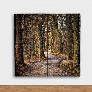 Painel Decorativo Floresta Rústica - Quadrado