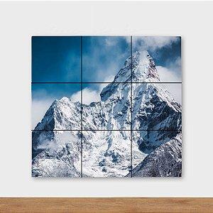Painel Decorativo Montanha Nevada - Quadrado