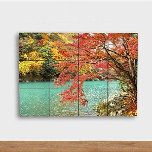Painel Decorativo Lagoa no Outono