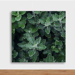 Painel Decorativo Folhagem Verde - Quadrado