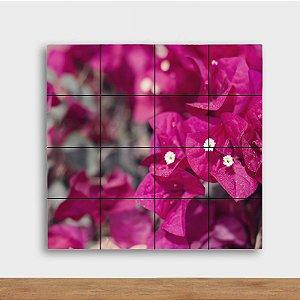 Painel Decorativo Flores Rosas - Quadrado