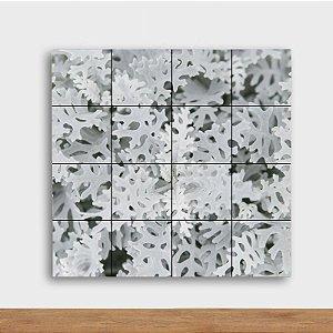 Painel Decorativo Folhagem Branca - Quadrado