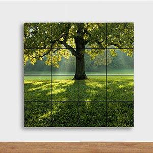 Painel Decorativo Árvore Verde - Quadrado