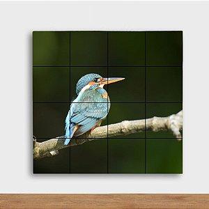 Painel Decorativo Pássaro Azul - Quadrado